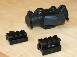 Vortex Sparc and two sizes of UTG risers